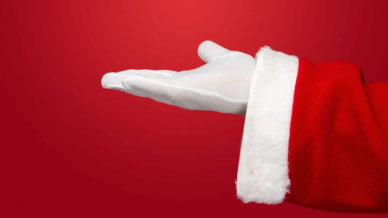 Mano de Santa Claus